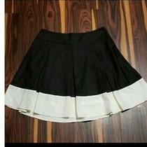 h&m Black White Pleated Skirt Size 10 Photo