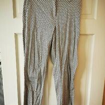 h&m Black White Print Butterfly Cigarette Trousers Excellent Condition Size Uk 8 Photo