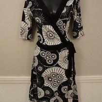 h&m Black White Wrap Around Tie Floral Dress Nice Size 4 Cute Cute Photo