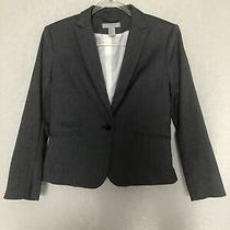 h&m Blazer Size 8 Black White Grey Gray Patterned Single Button Front Pockets  Photo