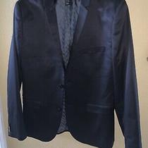 h&m Blazer Slim Fit Black Sports Coat Jacket Mens Size 42 R Photo