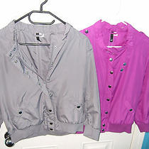 h&m Blouse Light Jackets Short Size 8/10 Grey  Pink Excellent Condition Blogger Photo