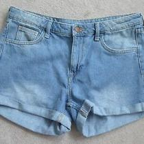 H & M Blue Denim Ladies Shorts Eur 38 Waist 32
