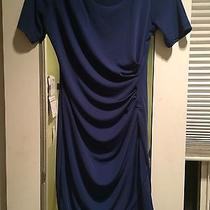 h&m Blue Dress With Short Sleeves Size Small Photo