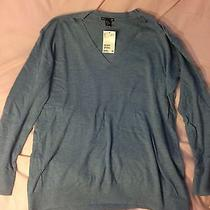 h&m Blue v Neck Sweater Photo