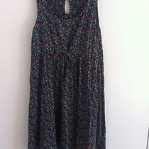 h&m Blue With Green & Red Flower Pattern Dress Size 6 Photo