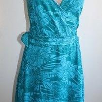 h&m  Blue Wrap Around Tie Floral Dress Nice Size 4 Euc  Photo