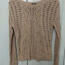 h&m Blush Pink Cotton Blend Cable Knit Sweater Small Photo