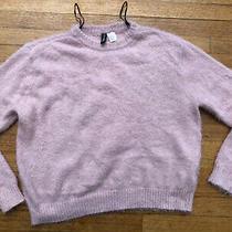 h&m Blush Pink Sweater Women Fuzzy Size S Small Photo