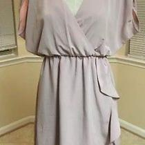 h&m Blush Pink Wrap Style Tunic  Dress Work Party Special Occasion Size 6 Photo