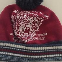 H & M Boy's Fall/winter Hat Sz 6-12m Cotton Acrylic Red Cute Warm Photo