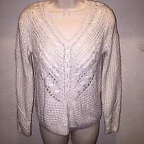 h&m Cable Knit Cream Sweater Size Small S Photo