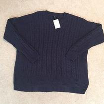 h&m Cable Knit Dark Blue Sweater  Photo