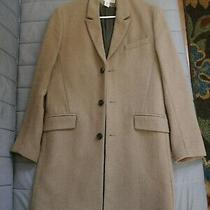 h&m Camel Wool Blend Topcoat Overcoat Trench Coat Winter Tan Us Size 36r Mens Photo