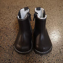 h&m Chocolate Brown Boots With Side Zip Size Us 2.5-3.5 Baby Toddler Girls  Photo