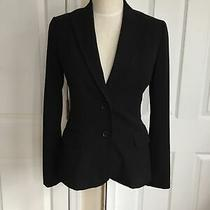 h&m Classic Black 2 Button Blazer With 2 Front Pockets Size 6 Lined Photo