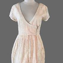 H & M Conscious Collection Dress Sz 12 Blush Pastel Orange Organic Cotton Lace Photo