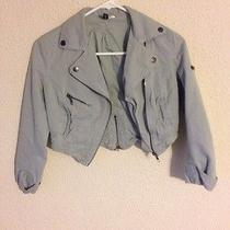 h&m Cropped Bomber Jacket Size 2  Photo