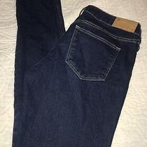 h&m Denim Blue Jeans Women's Skinny Slim Low Rise Waist Pants Size 29 Photo
