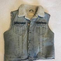 h&m Denim Sleeveless Jacket Photo