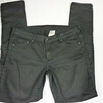 h&m Denim Womens Jeans Size 30/32 Black Skinny Low Rise 5 Pocket - Zz35 Photo
