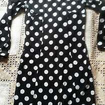 h&m Divided Black and White Polka Dots Bodycon Dress Size 10 Photo