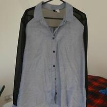 h&m Divided Black Blue Transparent Shirt Size 10  Photo