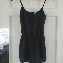 H & M Divided Black Womans Romper Size 4 Photo