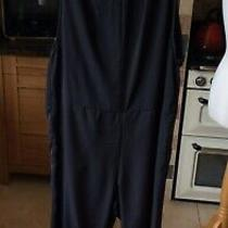 h&m Divided Ladies/womens Black Jumpsuit Size 12 With Pvc Trim Lovely  Photo