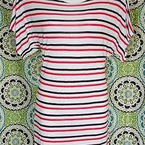 H & M Divided Red Black Stretchy a-Line Dolman Chemise T-Shirt Mini Dress 10 Photo