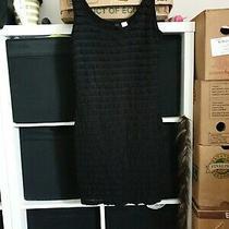 h&m Divided Size 10 Black Sleeveless Ruffle Dress  (S14) Photo