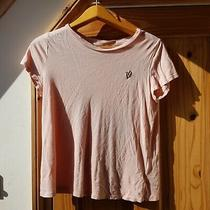 h&m Divided Size S Great Condition Pink Blush Heart Embroidered T-Shirt Top Photo