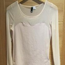 h&m Divided Uk12 Nude/ Blush Colour Sheer/ Stretch Cotton Top(worn Once) Photo