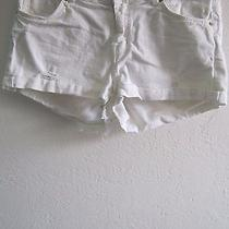 h&m Divided White Shorts Distressed Size 6 Juniors Photo