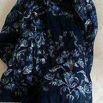 h&m Divided  Women Navy Cream Long  Neck Knit Scarves  Photo