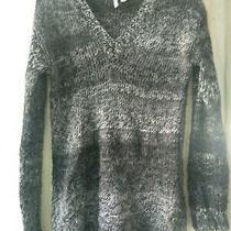 h&m Divided Women's Gray Black Mix v Neck Knit Sweater Size Xs Photo