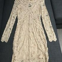 h&m Dress Beige Size 4 or 34 Bodycon Lace Great Brand New With Tags Condition Photo