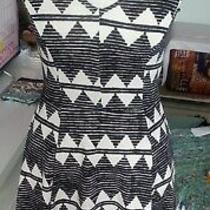 h&m Dress Skater Size Xs Black/white Photo