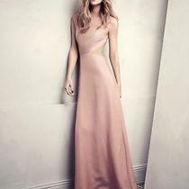 h&m Exclusive Long Pink Dress Conscious Trend Divided Glamour Cut Out 10 or 12  Photo