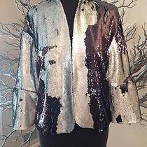 h&m Exclusive Sequin Jacket With Fluted Sleeves Size 6 Photo