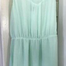 H & M Flare Dress Mint Green Lined Razor Back Size 14 - Nwt Photo