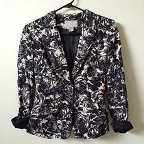 h&m Floral Jacket Blazer Zara Size Xs 2  Photo