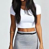 h&m Forever 21 American Apparel Tight Mini Grey Bodycon Skirt D Photo
