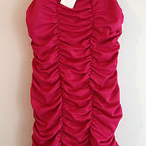 h&m Fuchsia Ruffle Short Club  Party Evening  Dress Size Medium  Free Shipping  Photo