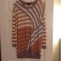 h&m Gray and Camel Striped Sweater Sz M Gently Worn Photo