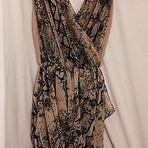 h&m Grecian Style Snake Print Vogue Trend Drape Dress in Black/nude Size 8 Photo