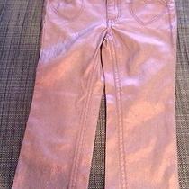 h&m H M Girls Jeans Pants Boot Leg Glitter Heart Pockets Spring 1.5-2t 18-24m Photo