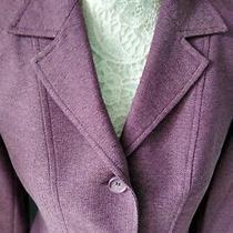 h&m Hennes Jacket  Size 40 Aubergine Colour Photo