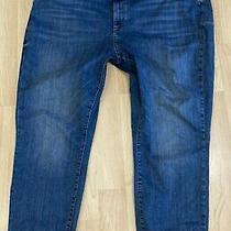 h&m High Waist Super Skinny Ankle Jeans Stretch Blue Women's Sz 22 Photo
