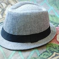 h&m Hm Mens Gray & Black Tweed Fedora Hat Size Large  Photo